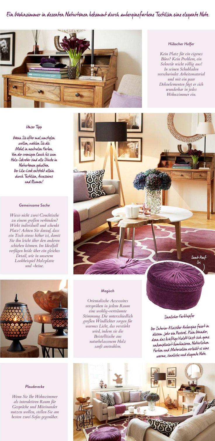 Wohnzimmer Lila Gold Edel Elegant Gemtlich Kleines Gestalten