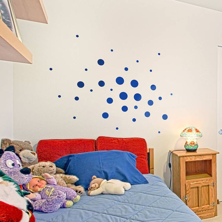 Child's Spotty Wall Sticker Set