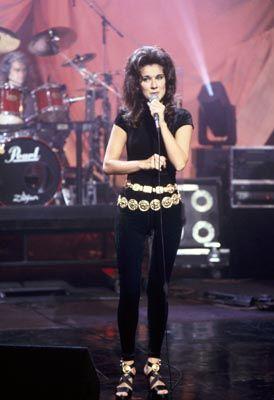 """Le 14 juillet 1992, Céline Dion apparaît dans l'émission américaine """"The Tonight Show"""", animée par Jay..."""
