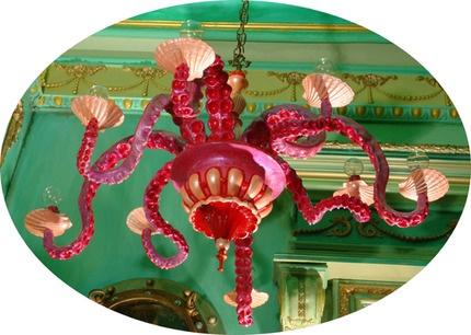 Adam Wallacavage - Pink Octopus Chandelier: Octopuses Lamps, Octopuses Chandeliers, Dreams Chand, Lights Fixtures, Things Octopuses, Adam Wallacavag, Colors Combinations, Green Chand, Kids Rooms
