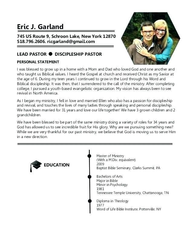 Awesome Lead Pastor Resume Template Collection