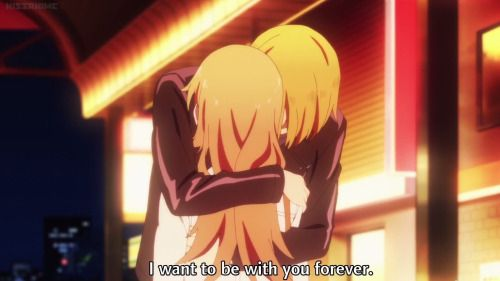 FINALLY. ^.^ He said it then left her to a cab. -.-' friggin Satou.