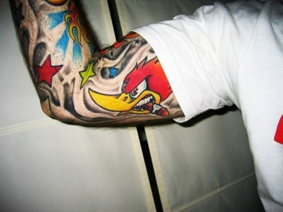 the angry woody woodpecker tattoo inked pinterest