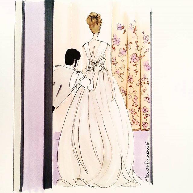 Giuseppe Papini real bride #bridal #fashionillustratio