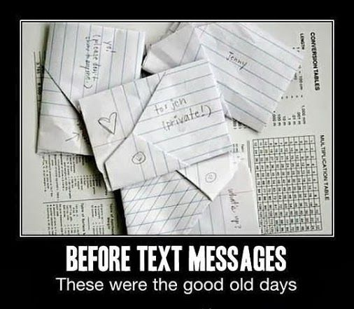 Throwback Thursday | Before Text Messages | From, Funny Technology - Google+ via Ashish T