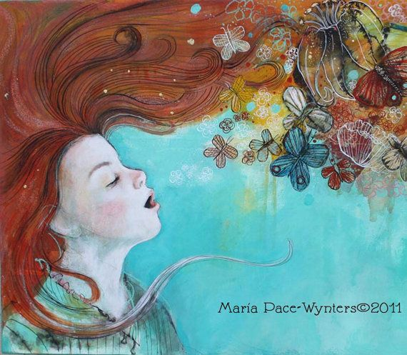 I Can See My Dreams- Fine Art Reproduction On Wood by Maria Pace-Wynters