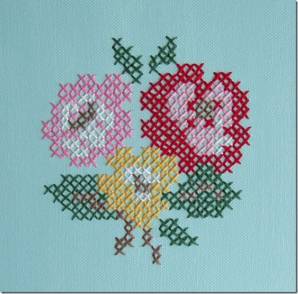 Cross Stitch on canvas