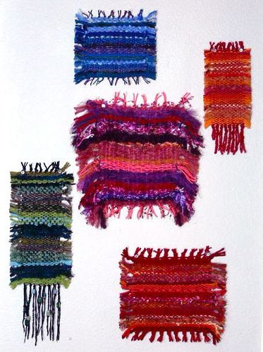 Saori weaving :: Beautiful, love these color combinations