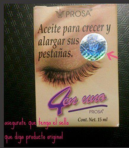 PROSA 4 en uno aceite para crecer y alargar pestanas-oil treatment to grow and lengthen eylashes. strenghten. nourish. lengthen.