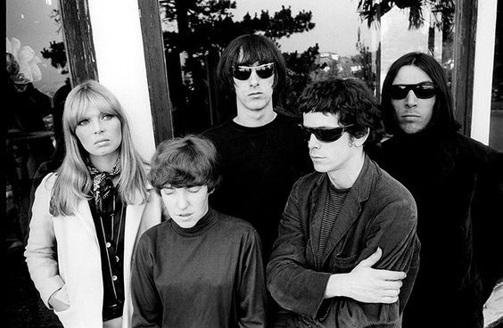 The Velvet Underground in 1965. Left to right: Nico, Maureen Tucker, Sterling Morrison, Lou Reed and John Cale/