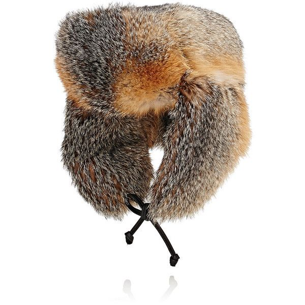 Crown Cap Men's Fur Trapper Hat ($995) ❤ liked on Polyvore featuring men's fashion, men's accessories, men's hats, grey, mens ear flap hats, mens trapper hat, mens hats and mens fur hats