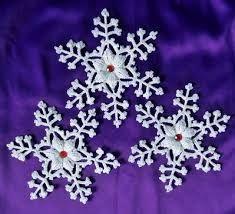 Risultati immagini per fiocchi neve uncinetto schemi