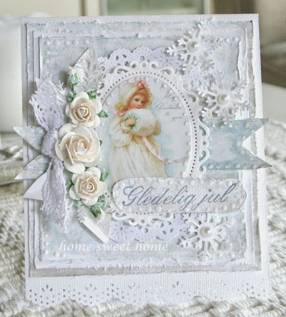 What about this for Heather. Too young? Not Christmasy enough?    Actually I ADORE this card and think it is one of the most beautiful cards made!!