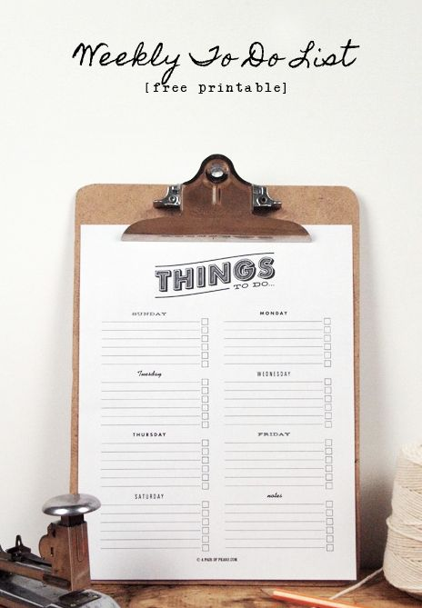 92 best Printable To Do List images on Pinterest Free printables - task list sample in pdf