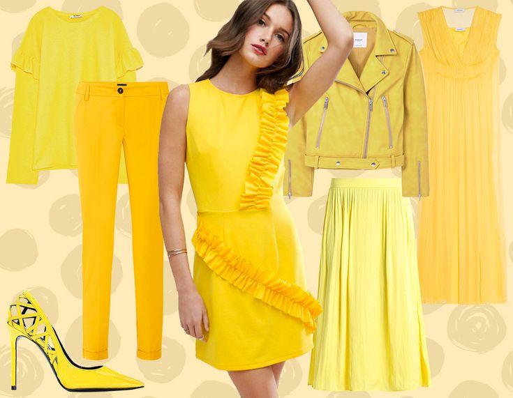 Il colore giallo è il protagonista dei look della primavera. Décolleté by Simone Castelletti