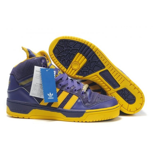 Women adidas ObyO Jeremy Scott Logo Purple Yellow U.S. $ 95.99 http://www.jeremyscottvip.com