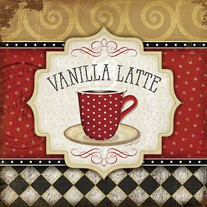 Coffee Painting - Vanilla Latte by Jennifer Pugh