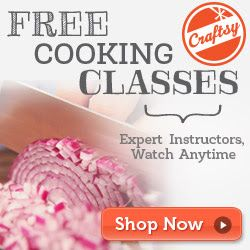 Craftsyis offeringFree Online Cooking Classes. There are threemini classes to choose from that you can watch anytime, along with printable instructions and step-by-step directions. Not a Craftsy member?Sign up heretoday! Here are the classes you can choose from: ~Creative Ways …