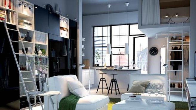 Petit espace avec hauteur sous plafond bien am nag maison gestion de l 39 espace - Hauteur sous plafond maison ...