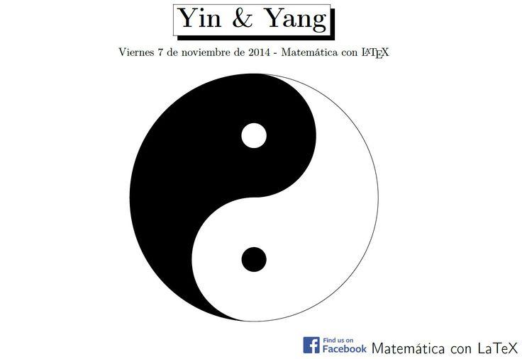 Yin & Yang logo made with TikZ in LaTeX. http://www.facebook.com/matematicaconlatex