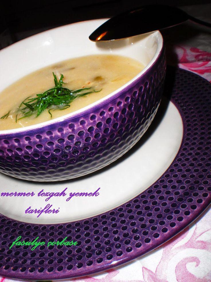 Mermer tezgah yemek tarifleri: taze  fasulye çorbası