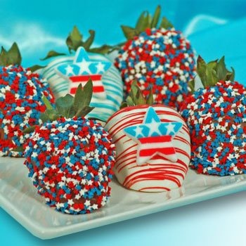 4th of July Strawberry's!: Food Food Ideas, Chocolate Covered Strawberries, Chocolate Strawberries, Patriotic Food, 4Th Of July, Patriotic Chocolate, Food Fun, Dessert