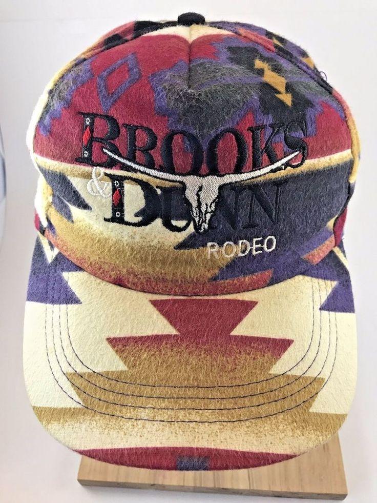 Brooks Amp Dunn Rodeo Cow Head Skull Cap Hat Ride Em Cowboy