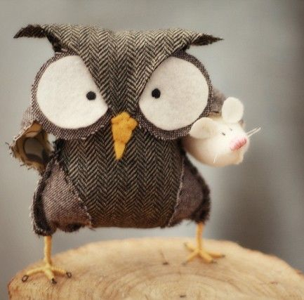 hilary cosgrove @Etsy: Mice, Owl Pillows, Owl Crafts, Diet Plans, Braids Style, Angryowl, Angry Owl, Weights Loss, Art Pieces