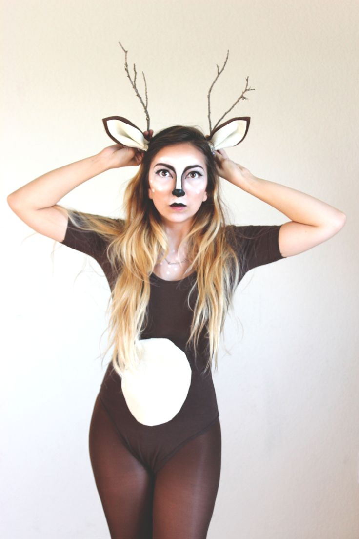 DIY Ears and Antlers - Micheal's    Leotard - American Apparel    Tights - Target