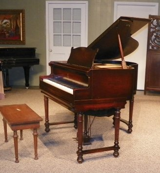 8 best images about antique player pianos on pinterest for Small grand piano