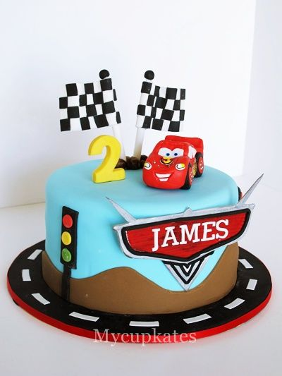 Disney Car Cake - James' 2nd birthday cake for more detail shots, welcome to visit my blog, MyCupkates.blogspot.com thank you for watching^^