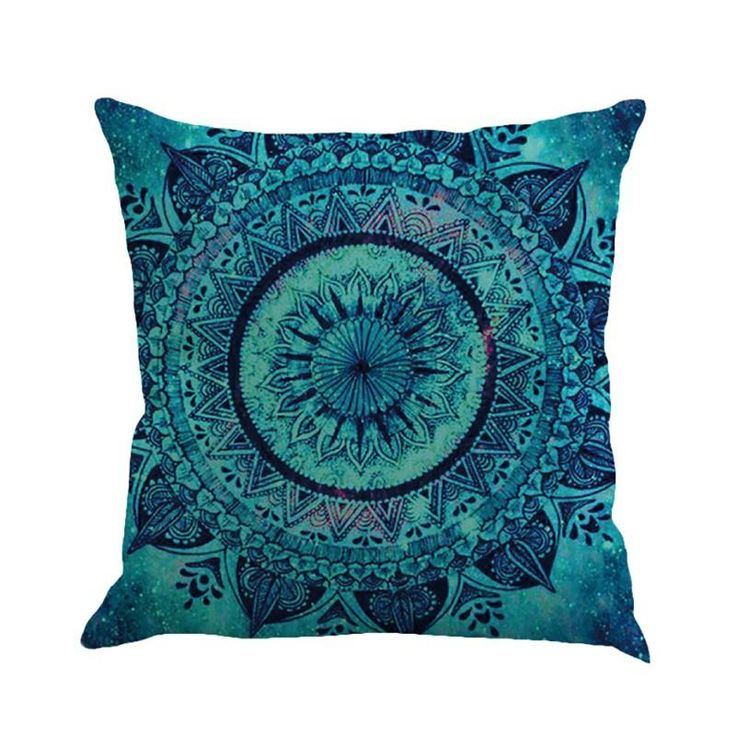 Indian Mandala Thrown Pillow Case Cover Sofa Cushion Cover Elephant Room Decors | eBay