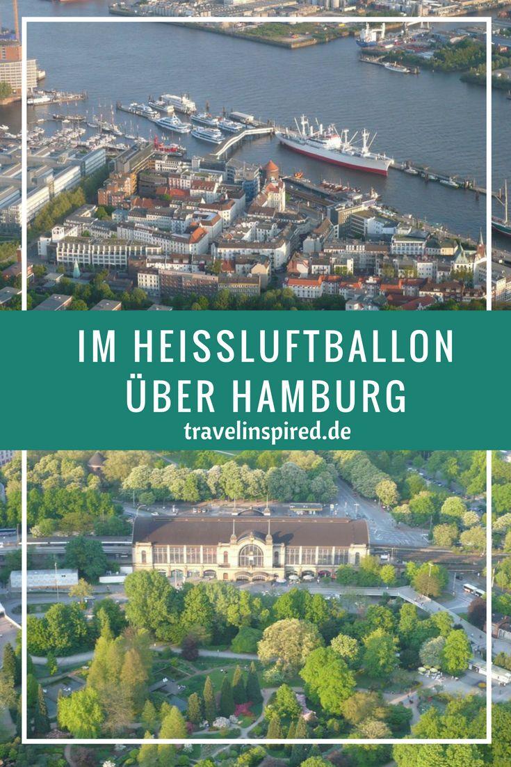 Wir sind im Heißluftballon über unsere Heimatstadt Hamburg gefahren. Ein einmaliges Erlebnis! Noch dazu hatten wir Glück mit dem Wind und sind über Alster, Innenstadt, Elbe und Hafen bis zu Alten Land gekommen, eine super Tour.
