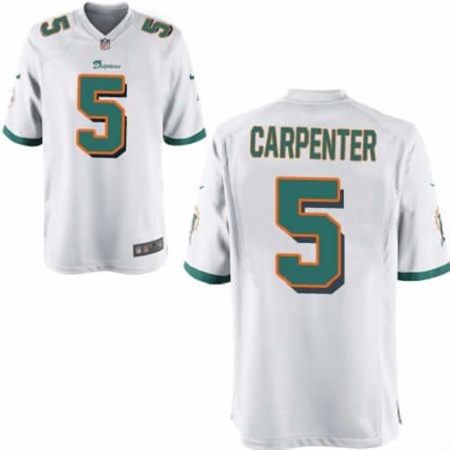 Dan Carpenter Jersey Miami Dolphins #5 Mens White Limited Jersey Nike NFL Jersey Sale