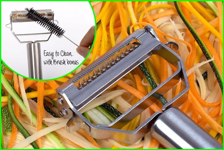 VEGETABLE PEELER & Ultra Sharp Blades - Easy To Handle MORE DELICIOUS VEGETABLES