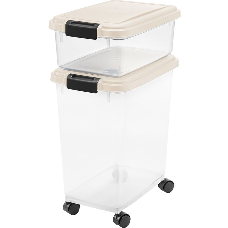 Iris Airtight Pet Food/ Treat Storage Container Combo