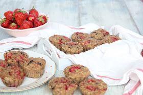 Jahodovo-banánové muffinky