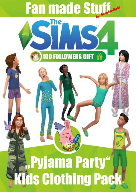 TESTED -  WORKS Sims 4 CC's - The Best: Pyjama Set for Kids by Standardheld