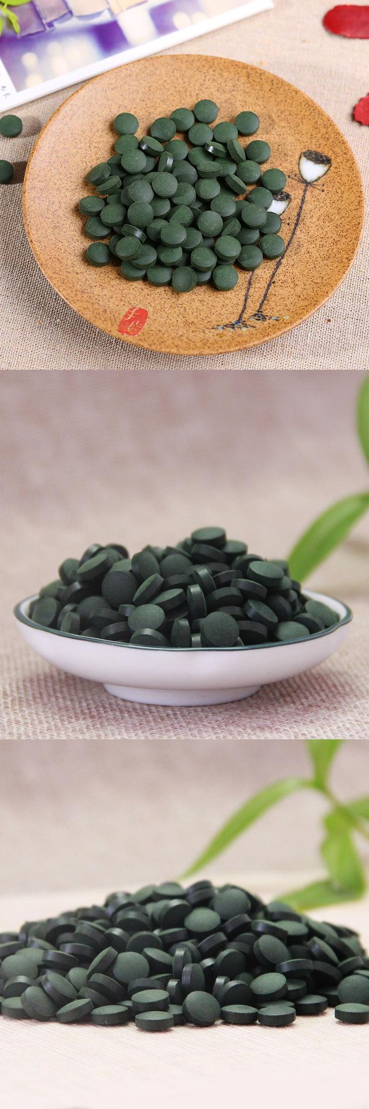 [Visit to Buy] Health Food 1000 Pills Quality Approved Anti-fatigue Anti-radiation Enhance-immune 250g Green Natural Spirulina Health Tea #Advertisement