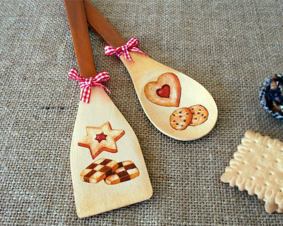 Kitchen Wall Decor  Wooden Spoons  Bakery Decor  Gift for