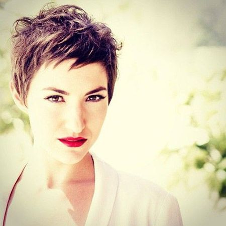 Cool Messy Pixie Cut: