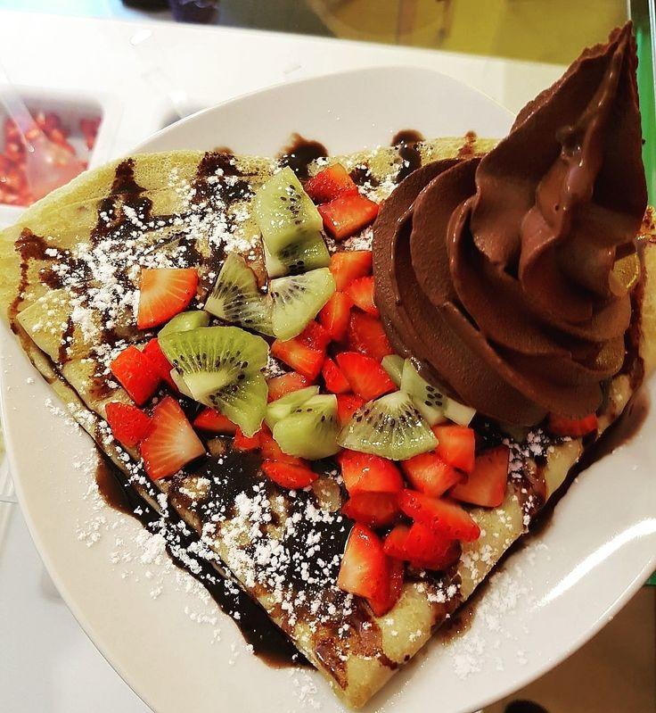Um domingo bem docinho com MYiCED®  #crepe #gelado #chocolate  #myiced #fruta