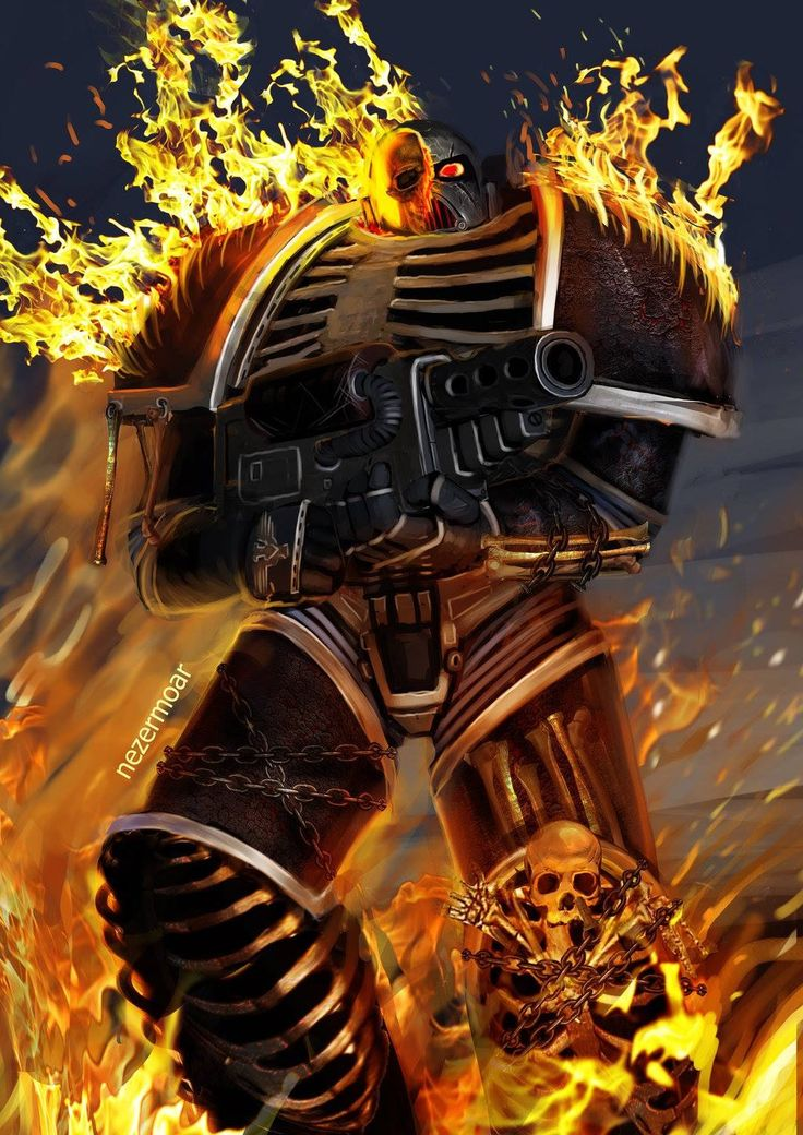 Legion of the Damned space marine.