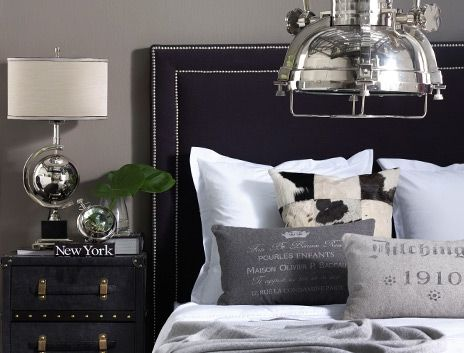 Contemporary and masculine bedroom