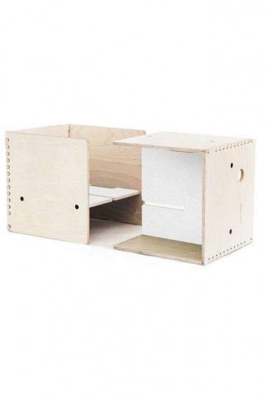 1000 id es propos de mobilier scolaire sur pinterest for Bureau qui se transforme en lit