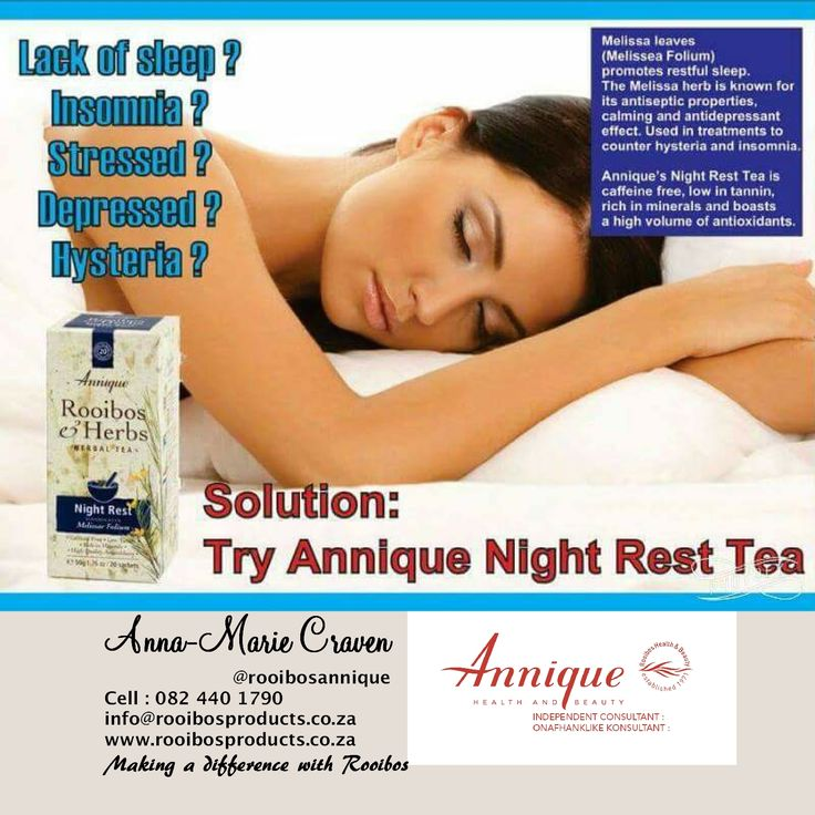 Good night rest with Annique Rooibos #rooibosproducts