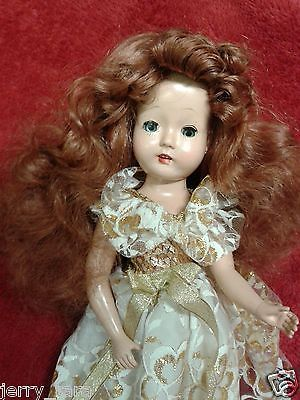 """Vintage 14"""" composition American made Walker girl  Doll Mary Lu? OOAK rare"""