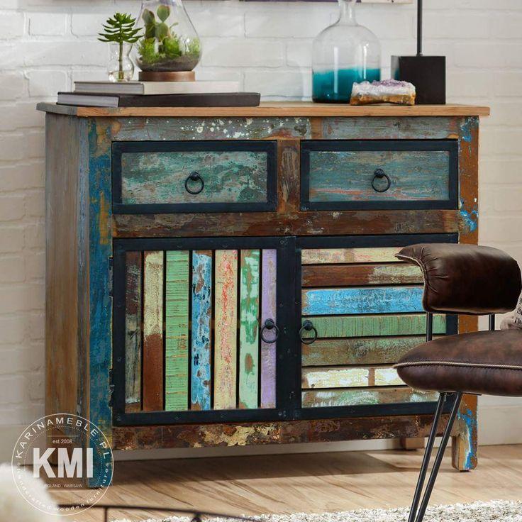 Dzisiaj prezentujemy komoda do przedpokój która idealne pasuje do meble loftowe, meble industrialne oraz do meble indyjskie. Drewniana komoda jest zrobione z litego drewna z recyklingu. Jeśli szukasz oryginalnego meble do loftowego salonu lub po prostu chcesz urozmaicić kolonialną aranżacje to być może komoda Loft Colors spełni Twoje oczekiwania. Bajecznie kolorowa i zrobiona z drewna z recyklingu.