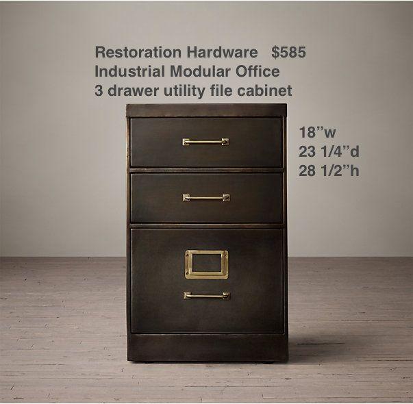 restoration hardware industrial modular system desk areasoffice