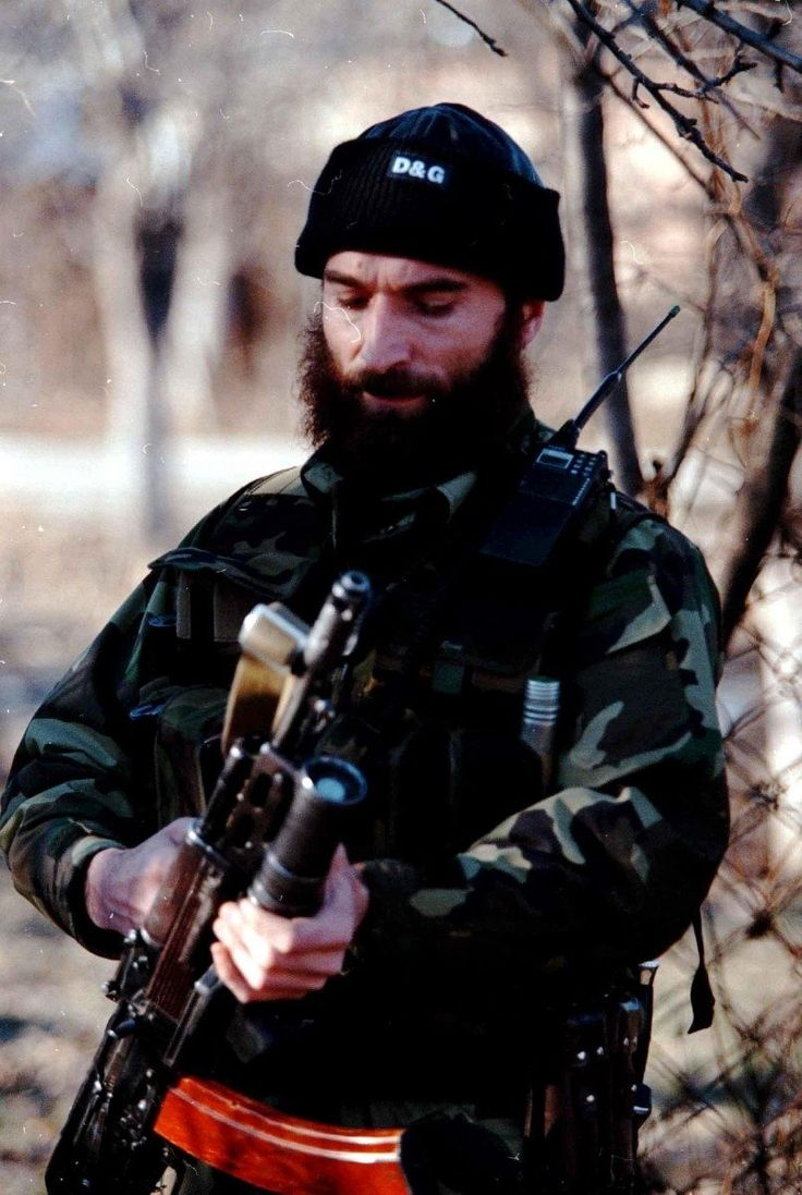 Shamil Salmanovich Basayev was a Chechen militant Islamist and a leader of the Chechen movement; killed by russian FSB during a special operation.